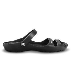 CROCS Black Cleo II Sandal Slip On Women's Size 7